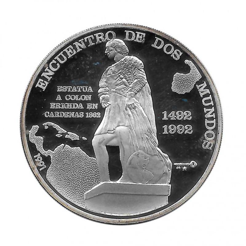 Moneda Plata 10 Pesos Cuba Encuentro Dos Mundos Cristobal Colon Año 1991 Proof | Monedas de colección - Alotcoins