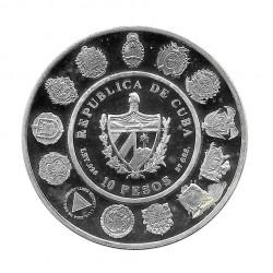 Silver Coin 10 Pesos Cuba Two Worlds Encounter Cristobal Colon Year 1991 Proof | Numismatics Shop - Alotcoins