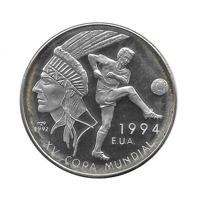Moneda Plata 10 Pesos Cuba Mundial Fútbol 1994 EEUU Año 1992 Proof | Monedas de colección - Alotcoins