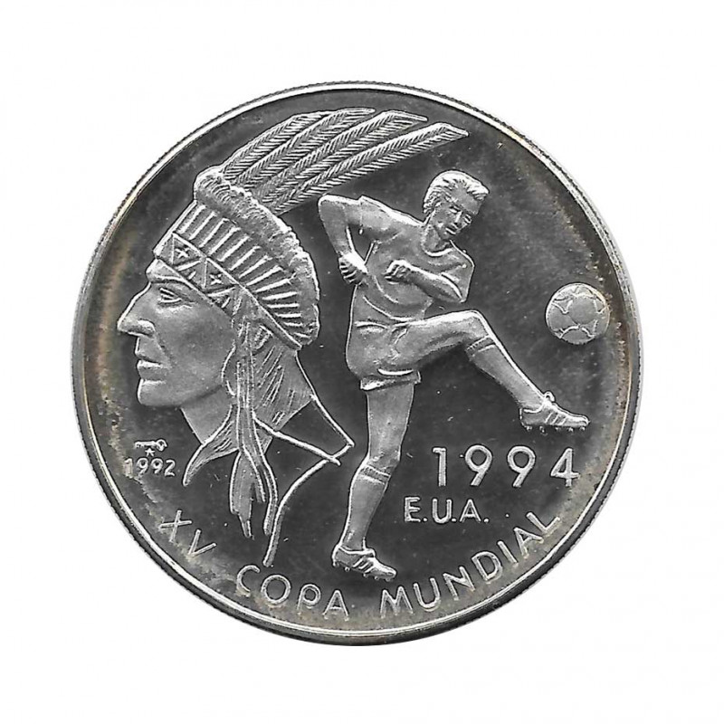 Silver Coin 10 Pesos Cuba Soccer Word Cup 1994 USA Year 1992 Proof | Collectible Coins - Alotcoins