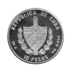 Silver Coin 10 Pesos Cuba Soccer Word Cup 1994 USA Year 1992 Proof | Numismatics Shop - Alotcoins