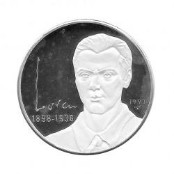 Moneda Plata 10 Pesos Cuba Poeta Federico Garcia Lorca Año 1993 Proof | Monedas de colección - Alotcoins