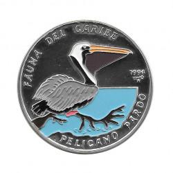 Moneda Plata de color 10 Pesos Cuba Poeta Pelícano Año 1994 Proof | Tienda Numismática - Alotcoins