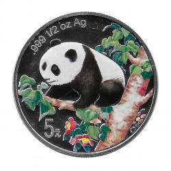 Währung China 5 Yuan 1998 Silver Mehrfarbiger Panda Münzen