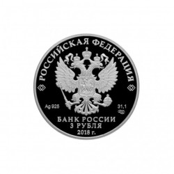 Coin 3 Rubles Russia Cathedral Kazan Vyritsa Year 2018 Proof + Certificate of authenticity   Numismatics Store - Alotcoins