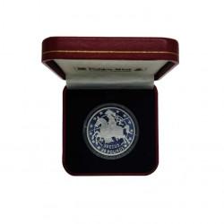 Silbermünze Gibraltar 35 ECU / 25 Pfund Ritter Jahr 1992 Polierte Platte PP | Sammlermünzen - Alotcoins