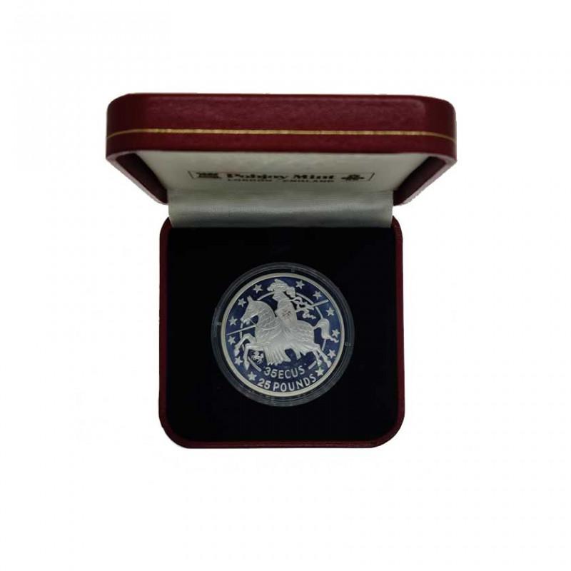 Moneda 35 ECUs / 25 Libras Gibraltar Caballero Año 1992 Proof | Monedas de colección - Alotcoins