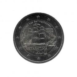 2 Euro Gedenkmünze Estland Entdeckung der Antarktis Jahr 2020 Unzirkuliert UNZ | Sammlermünzen - Alotcoins