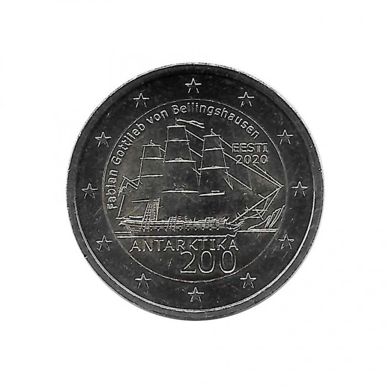 Moneda 2 Euros Conmemorativa Estonia Descubrimiento Antártida Año 2020 Sin circular SC | Monedas de colección - Alotcoins