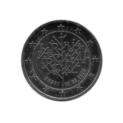 Moneda 2 Euros Conmemorativa Estonia Tartu Tratado Paz Centenario Año 2020 Sin circular SC | Monedas de colección - Alotcoins