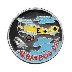 Silbermünze Farbige 10 Peso Kuba Englischer Albatros D II Jahr 1994 Polierte Platte PP   Sammelmünzen - Alotcoins