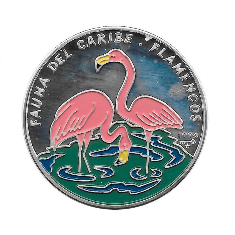 Silbermünze Farbige 10 Peso Kuba Flamingos Jahr 1994 Polierte Platte PP   Sammelmünzen - Alotcoins