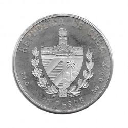 Silver Colored Coin 10 Pesos Cuba Flamingos Year 1994 Proof   Numismatics Shop - Alotcoins