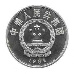 Münze China 10 Yuan Jahr 1992 Silber Proof Cross-Ski
