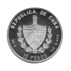 Silver Colored Coin 10 Pesos Cuba Savoia-Marchetti S.55 Year 1995 Proof | Numismatics Shop - Alotcoins