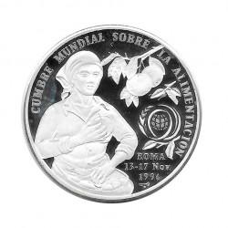 Moneda Plata 10 Pesos Cuba FAO Cumbre mundial alimentación Año 1996 Proof | Monedas de colección - Alotcoins