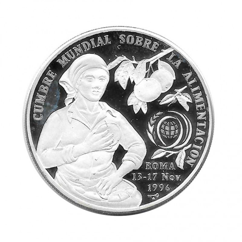 Silver Coin 10 Pesos Cuba World Summit on Food FAO Year 1996 Proof | Collectible Coins - Alotcoins
