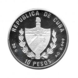 Moneda Plata 10 Pesos Cuba FAO Cumbre mundial alimentación Año 1996 Proof | Tienda Numismática - Alotcoins
