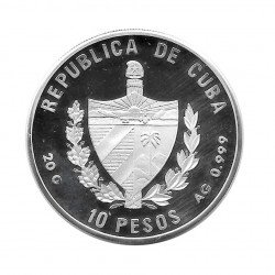 Silbermünze 10 Peso Kuba Weltgipfel über Lebensmittel FAO Jahr 1996 Polierte Platte PP | Numismatik Store - Alotcoins