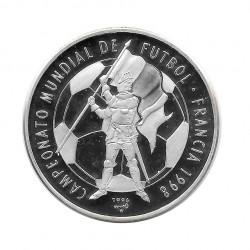 Silbermünze 10 Peso Kuba Fußball-Weltmeisterschaft Frankreich 1998 Jahr 1996 Polierte Platte PP   Sammelmünzen - Alotcoins