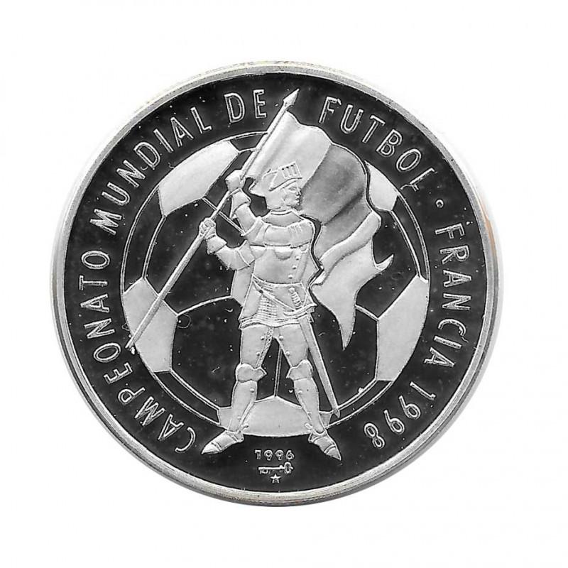 Silver Coin 10 Pesos Cuba World Soccer Championship France 1998 Year 1996 Proof   Collectible Coins - Alotcoins