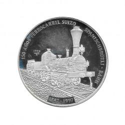 Moneda Plata 10 Pesos Cuba Ferrocarril suizo Año 1996 Proof | Monedas de colección - Alotcoins