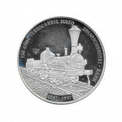 Silver Coin 10 Pesos Cuba Swiss Railroad Year 1996 Proof | Collectible Coins - Alotcoins