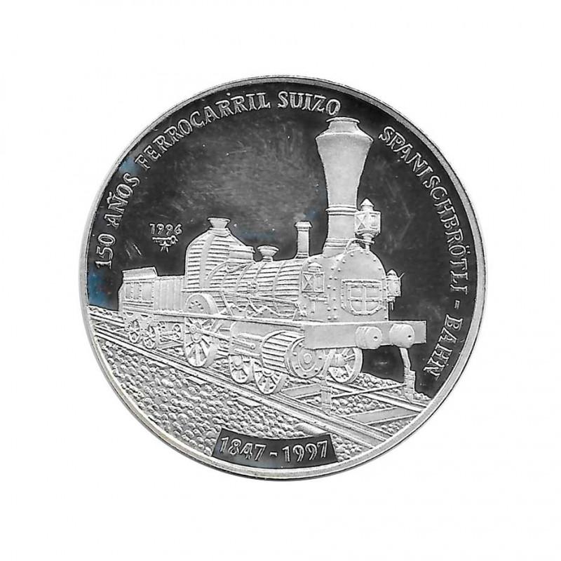 Silbermünze 10 Peso Kuba Schweizer Eisenbahn Jahr 1996 Polierte Platte PP | Sammelmünzen - Alotcoins
