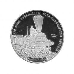 Silbermünze 10 Peso Kuba Österreichische Eisenbahn Jahr 1996 Polierte Platte PP | Sammelmünzen - Alotcoins