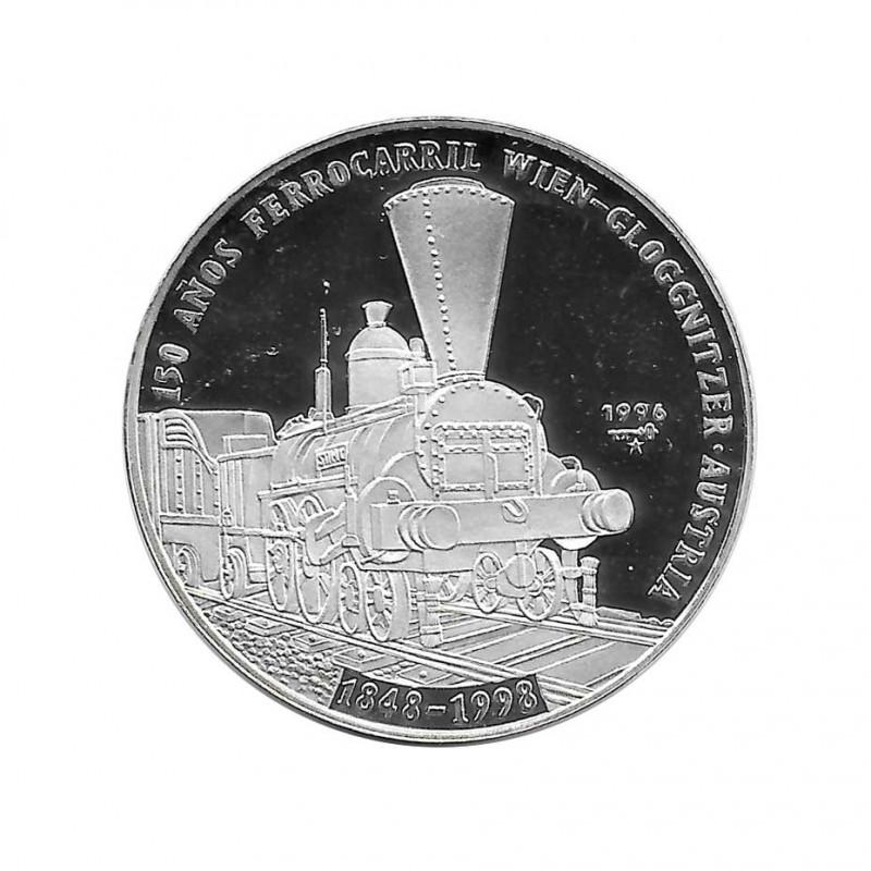 Moneda Plata 10 Pesos Cuba Ferrocarril austriaco Año 1996 Proof | Monedas de colección - Alotcoins