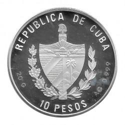 Silver Coin 10 Pesos Cuba Cuban Tody Bird Year 1996 Proof | Numismatics Shop - Alotcoins