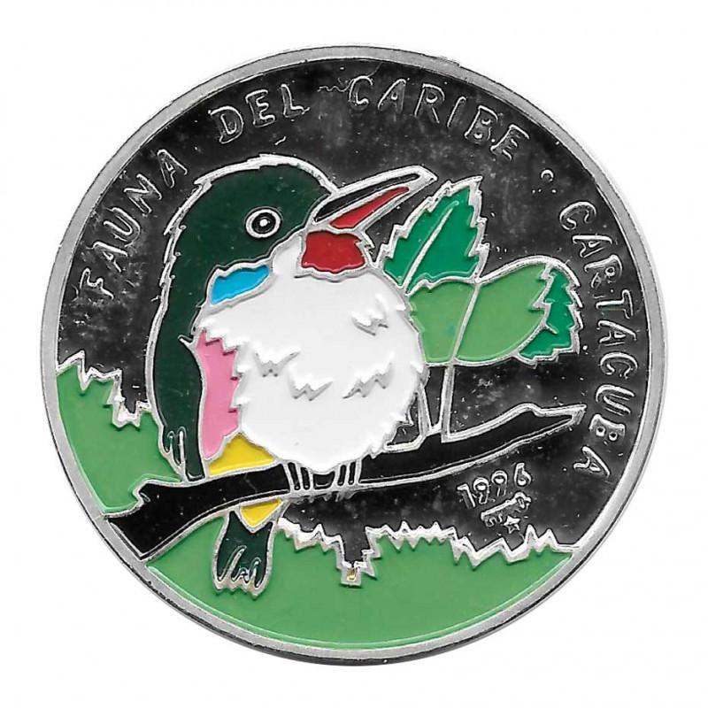Moneda Plata 20 Pesos Cuba Cartacuba Año 1996 Proof   Monedas de colección - Alotcoins