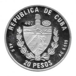 Moneda Plata 20 Pesos Cuba Cartacuba Año 1996 Proof   Numismática española - Alotcoins