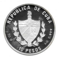 Moneda Plata 10 Pesos Cuba Pato Huyuyo Año 1996 Proof | Numismática española - Alotcoins