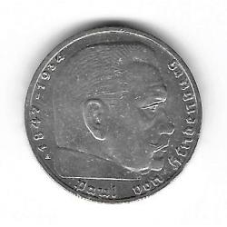 Coin Germany 2 Reichmark Year 1939 Swastika