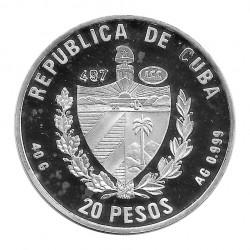 Moneda Plata 20 Pesos Cuba Pato Huyuyo Año 1996 Proof | Numismática española - Alotcoins