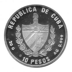 Silver Coin 10 Pesos Cuba Cuban Swallowtail Butterfly Year 1996 Proof | Numismatics Shop - Alotcoins