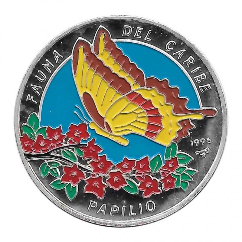 Moneda Plata 20 Pesos Cuba Mariposa Papilio Oxynius Año 1996 Proof | Monedas de colección - Alotcoins