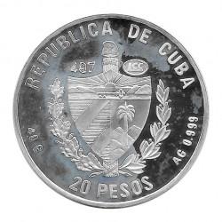 Moneda Plata 20 Pesos Cuba Mariposa Papilio Oxynius Año 1996 Proof | Numismática española - Alotcoins