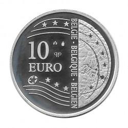 Moneda de plata 10 euros Bélgica Ampliación Unión Europea Año 2004 | Numismática española - Alotcoins