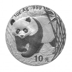 Münze China Jahr 2001 Silber Panda 10 Yuan Proof
