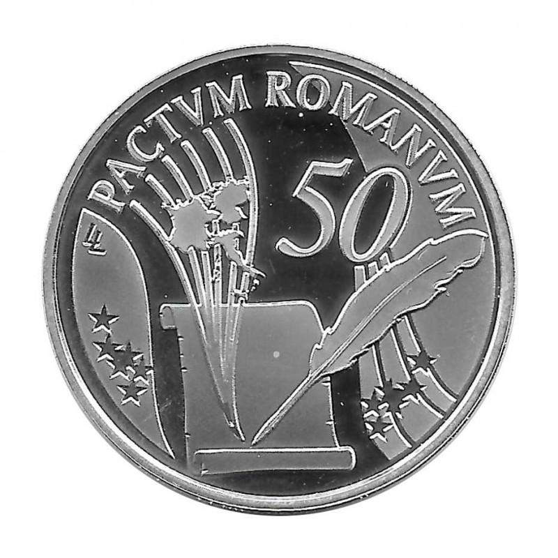 Silver Coin 10 Euros Belgium Treaty of Rome Year 2007 | Collectible Coins - Alotcoins