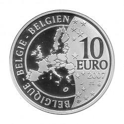 Silver Coin 10 Euros Belgium Treaty of Rome Year 2007 | Numismatics Shop - Alotcoins