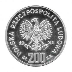 Silver Coin 200 Złotych Poland Bolesław I Chrobry Year 1981 | Numismatics Shop - Alotcoins