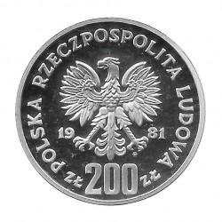 Moneda de plata 200 Zlotys Polonia Vladislao I Herman Año 1981 | Tienda numismática - Alotcoins