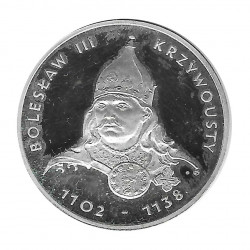 Moneda de plata 200 Zlotys Polonia Bolesław III Krzywousty Año 1982 | Monedas de colección - Alotcoins