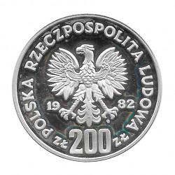 Moneda de plata 200 Zlotys Polonia Bolesław III Krzywousty Año 1982 | Numismática española - Alotcoins
