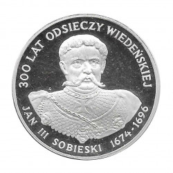 Moneda de plata 200 Zlotys Polonia Jan III Sobieski Año 1983 Proof | Monedas de colección - Alotcoins