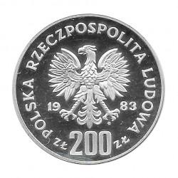 Moneda de plata 200 Zlotys Polonia Jan III Sobieski Año 1983 Proof | Numismática española - Alotcoins