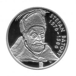 Moneda de plata 10 Zlotys Polonia Stefan Batory Año 1997 Proof | Monedas de colección - Alotcoins
